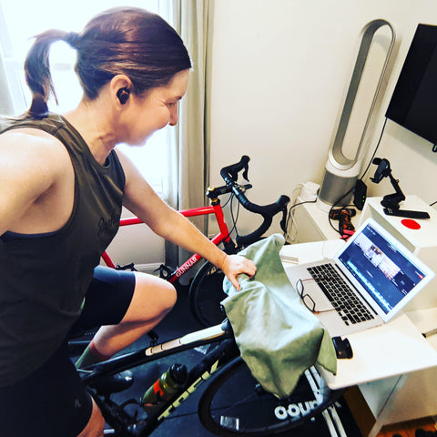 äventyr bicycle bags owner virtual cycling on TrainerRoad with The Fix Studio Minneapolis