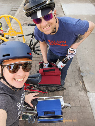 äventyr bicycle bags owners DeAnn and Kurt on a bike date to Fair State Brewing