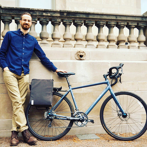 äventyr bicycle bags The Side Hustle laptop bicycle pannier bag review by John