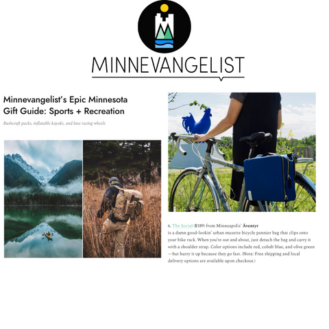 äventyr bicycle bags featured in Minnevangelist Epic Minnesota Gift Guide