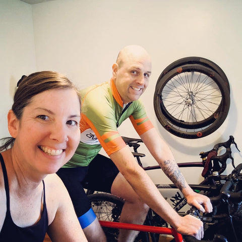 äventyr bicycle bags blog:  Indoor Cycling with owners DeAnn and Kurt