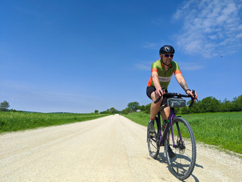 Kurt, äventyr bicycle bags owner, gravel cycling in the Driftless Region.  Forestville, MN.