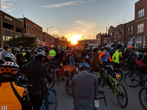 Downtown Stillwater, OK Sunrise at the Land Run 100 2019