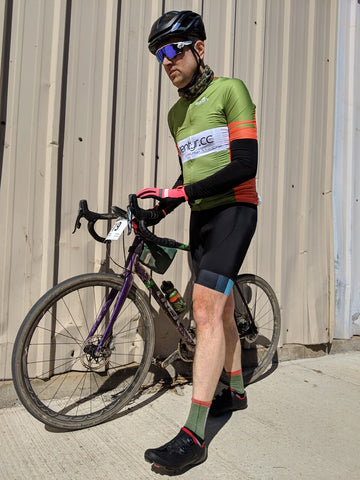Kurt at the halfway pitstop at Land Run 100 2019