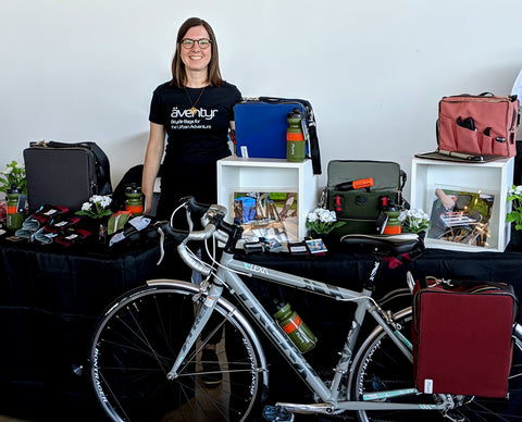 äventyr bicycle bags owner DeAnn at Shaping Fashion Ethical Marketplace 2019