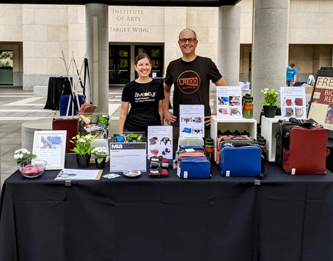 äventyr bicycle bag company owners DeAnn and Kurt and Minneapolis Institute of Art Bike Night 2019