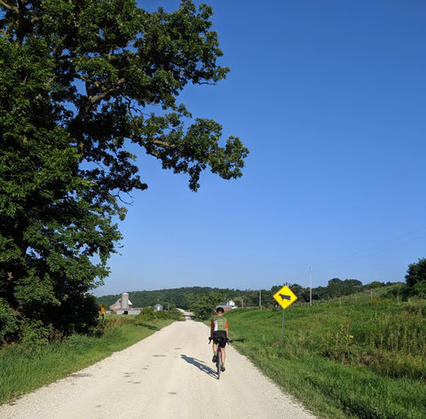 Kurt, äventyr Owner, on a gravel bike ride in The Driftless