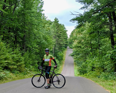 Kurt, äventyr Owner, on road ride from Two Lakes Campground, Drummond, WI