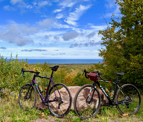 äventyr 1 & 2 overlooking Lake Superior on the Little Girls Point - Powers Road loop. Ironwood, Michigan, U.P.