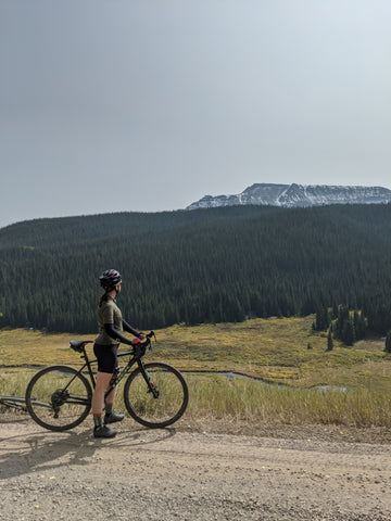 äventyr bicycle bags gravel biking and camping Colorado Routt National Forest and Flat Tops Wilderness