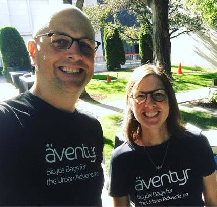 äventyr owners Kurt and DeAnn at the Minneapolis Institute of Art Bike Night 2018