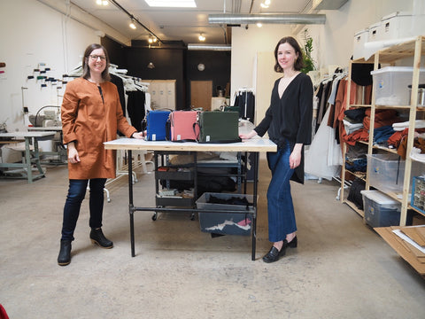 DeAnn & Kathryn at Winsome Goods after the 2018 The Social Production run is completed!