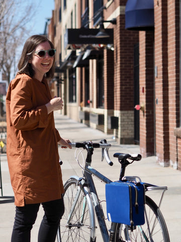 DeAnn, Owner and Creative Director, äventyr bicycle bags