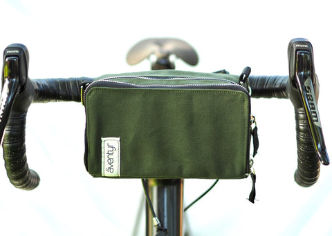 äventyr The Essential bicycle handlebar bag in Olive