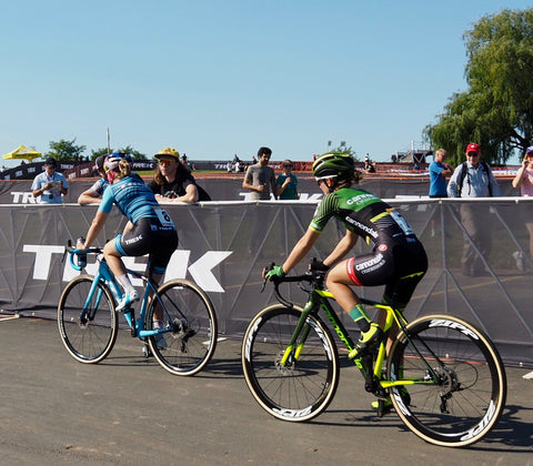 Ellen Noble and Marianne Vos at Trex CX Cup 2018