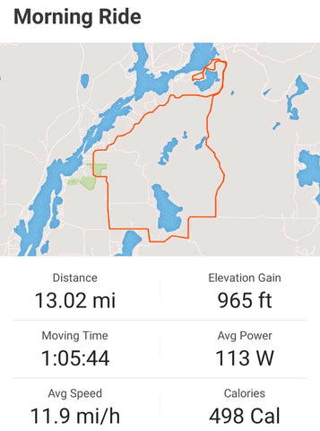 äventyr ride 1:  Paved route from Two Lakes Campground Drummond, WI