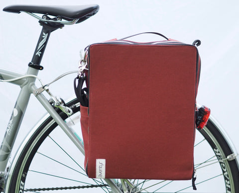äventyr The Side Hustle Bicycle Laptop Pannier Bag in Deep Auburn