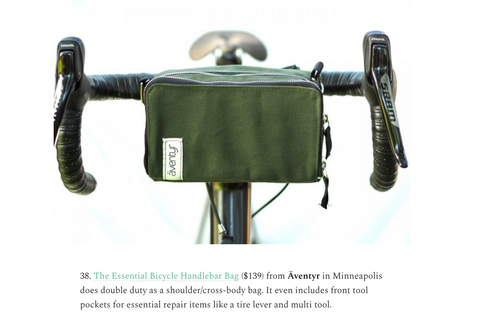 äventyr bicycle lifestyle bags featured in Minnevangelist