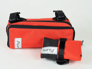 äventyr bicycle bags The Seat Rollio underseat tool roll:  Orange paired with the Gräventyr Bar Bag in Orange