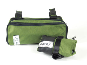 äventyr bicycle bags Gräventyr Gravel Bar Bag: Olive paired with The Seat Rollio Tool Roll in Olive