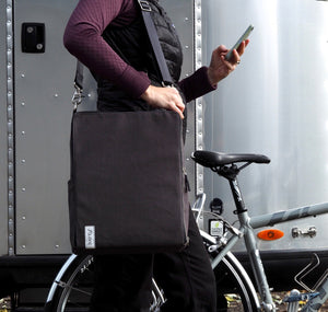 äventyr The Side Hustle Laptop Bicycle Pannier Bag - Briquette