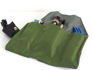 äventyr The Seat Rollio Underseat Bicycle Tool Roll Bag; Olive