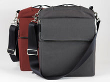 äventyr The Side Hustle Laptop Bicycle Pannier Bag, Deep Auburn.  Covered Pannier Clips.