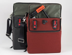 äventyr The Side Hustle Laptop Bicycle Pannier Bag, Deep Auburn.  German Made Pannier Clips.  Easy Access Lock Pocket.