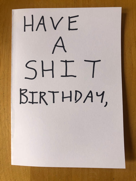 Shit Indie Disco Birthday/Greeting Card - Free Postage.