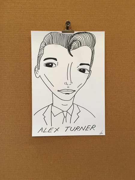 Badly Drawn Alex Turner Poster