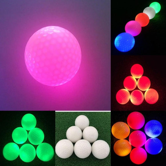 (Color: Multicolor) Brand New Electronic Golf Practice  Balls fashion Multi-Color  Light Up  LED  Night Flashing Golfing Balls