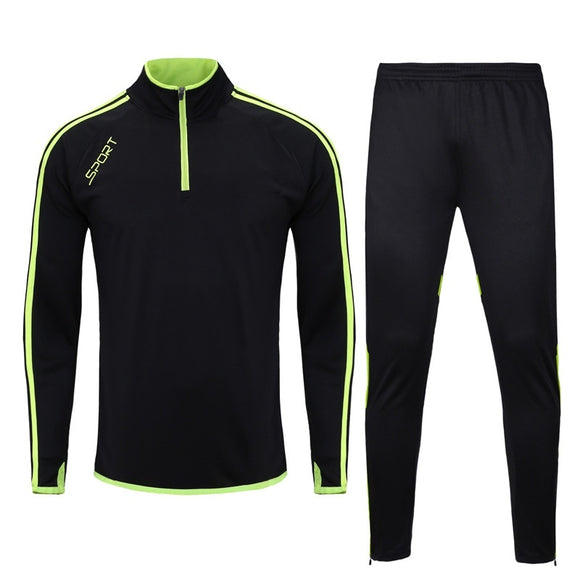 Boy's And Men's Training Suits  Top + Pants Sports Footfall Training Suits Sweatershirt And Trousers Soccer Tracksuit