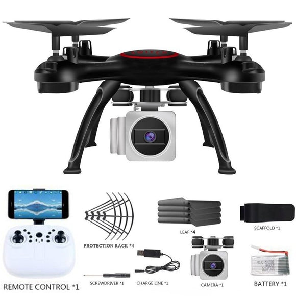 RC Drone X5U-7 FPV RC Quadcopter Drone with Camera 2.4G 6-Axis RC Helicopter Drones With 2.0MP HD WIFI Camera
