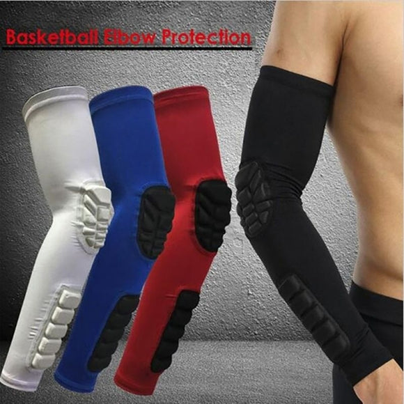 Basketball Sleeves Anti-collision Non-slip Compression Elbow Pads Honeycomb Sponge Protector Armband