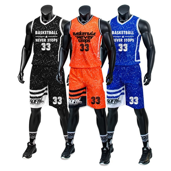 New Men and Boy's Father and Son's Basketball  Jersey Tank Top Shirts and Shorts Set
