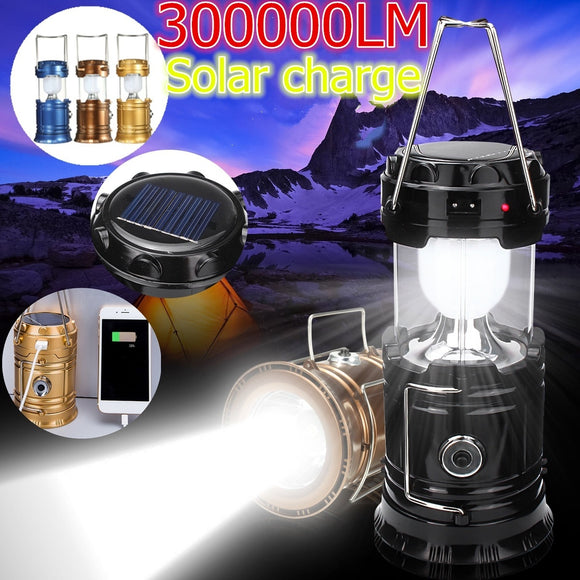 Camping Lihgt Solar Energy Outdoor Camping Rechargeable Night Flashlights Retractable Torch Light Hiking Solar Lantern Portable