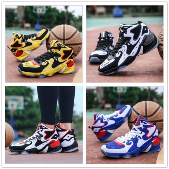 Autumn Basketball Shoes Men Wear Non Slip Boots for High Damping Camouflage Sports Shoes Men Wear-resistant Cushioning Basketbal