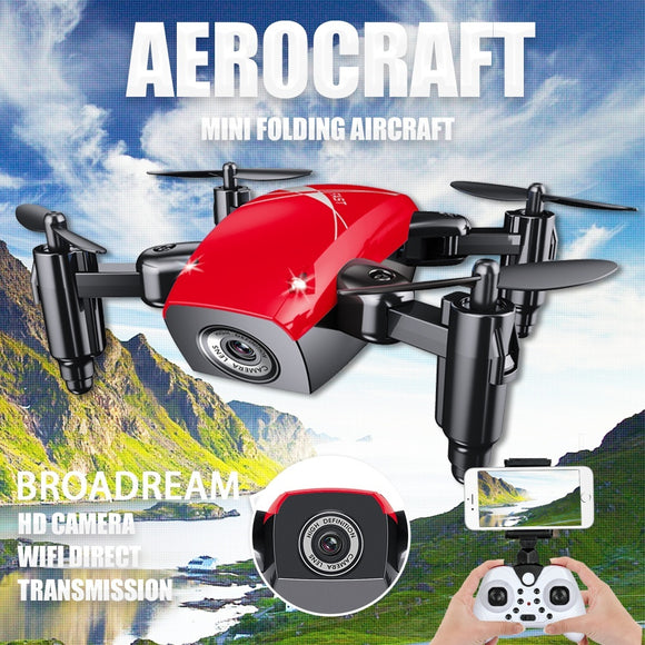 2018 NEW Drone Wifi FPV Quadcopter G-sensor Altitude Hold Foldable Selfie RC Drones with HD Camera Done Videos