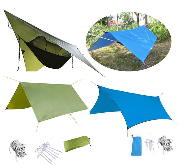 Portable Lightweight Camping Tent Tarp Shelter Mat Hammock Cover Waterproof Gear Campin Mat 6 Colors