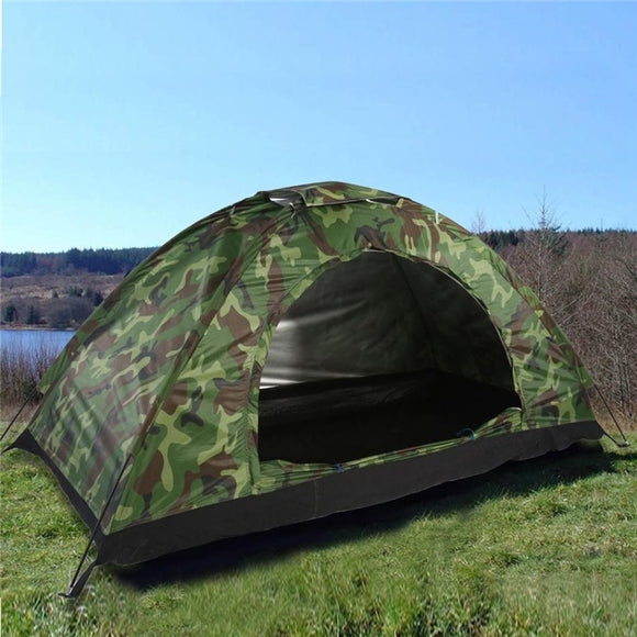 1-4 Person Portable Outdoor Camping Camouflage Tent Outdoor Camping Recreation Double Couple Camping Tent Ultraviolet-proof Tent