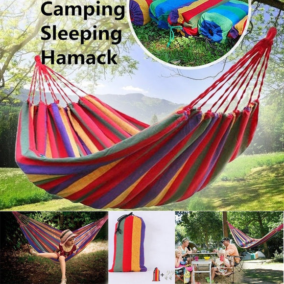 Portable Garden Canvas Hammock Camping Sleeping Hamack Hamock Swing Hanging Chair Hamack Outdoor Camping Supplies