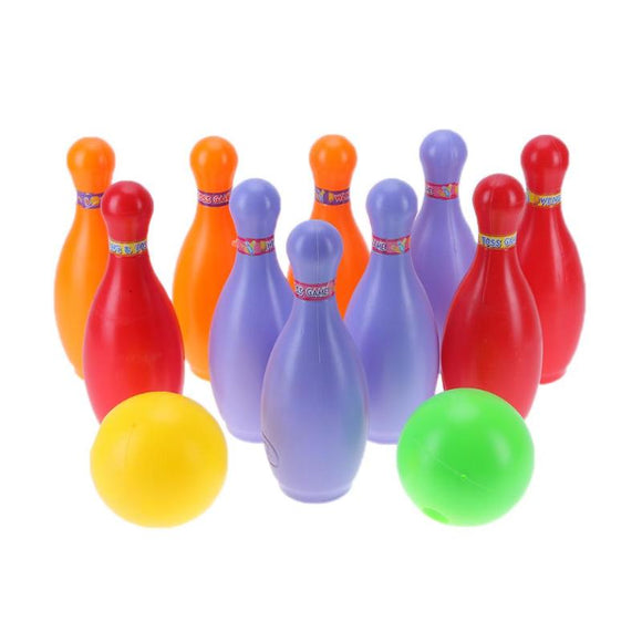 Children Plastic Bowling Ball Toys Set Kids Indoor Outdoor Sport Ability Toys Boys Girls Educational Toys Gift