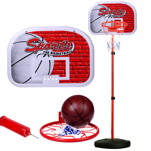 New Adjustable Height Kids Sports Portable Basketball Ball Hoop Toy With Stand