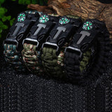 5 In 1 Outdoor Survival Gear Escape Paracord Bracelet