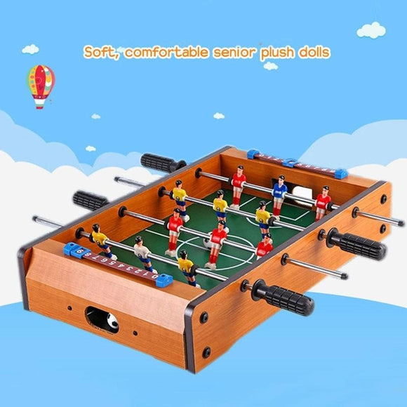 Toys Small Table Football Machine Mini Soccer Table Four Soccer Player (Color: Multicolor)