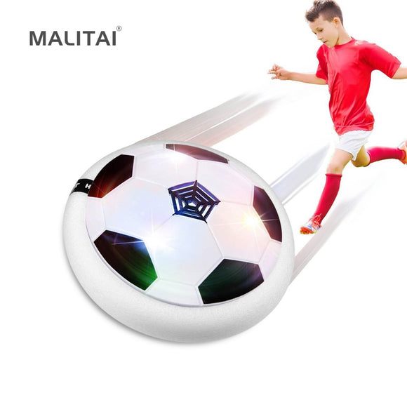 Air Power Soccer Ball Disc Colorful LED light Bulb Flashing lamp Music Hovering Gliding Indoor Football Kids Toy Gift