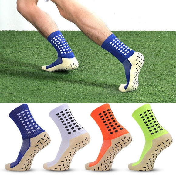 Breathable Elastic Anti-Slip Men Male Football Socks Soccer Sports Running Stockings Comfortable Men Sport Outdoor Socks