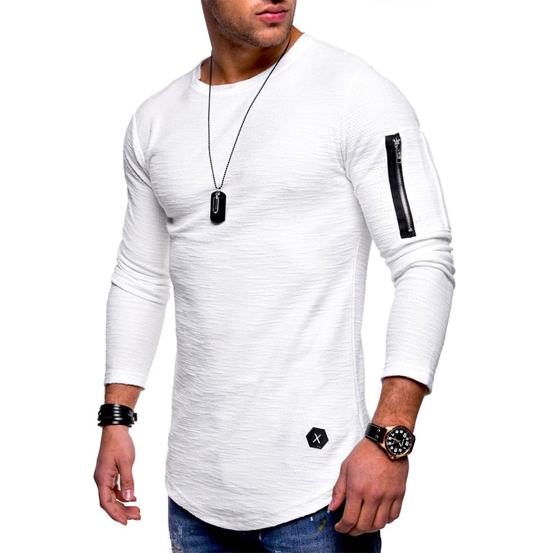 Men's long sleeve zipper shirt