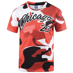 Chicago camouflage graphic t-shirt