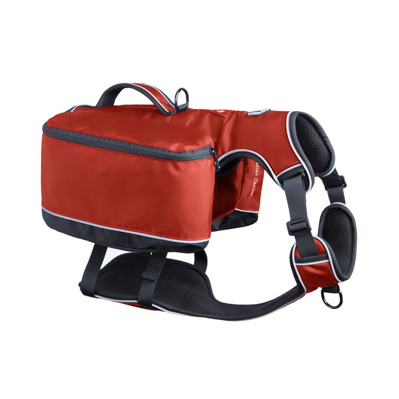 Traverse Dog Backpack - Ruby Red
